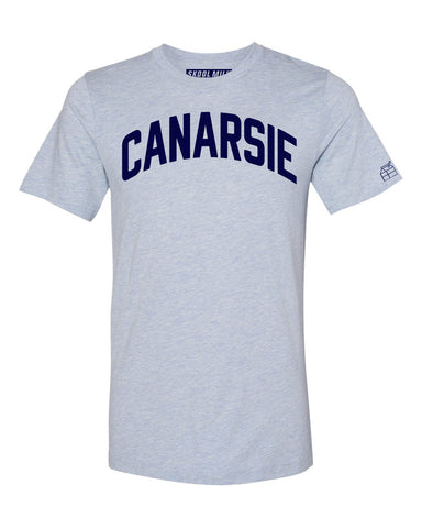 Sky Blue Canarsie T-shirt with Blue Letters