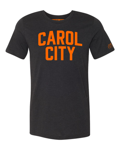 Black Carol City Miami T-shirt w/ Orange Reflective Letters