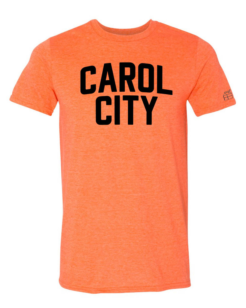 Orange Carol City Miami T-shirt w/ Black Reflective Letters