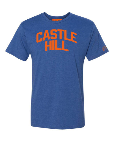 Blue Castle Hill T-shirt with Knicks Orange Letters