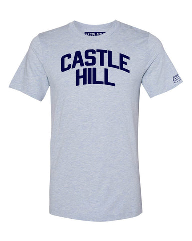 Sky Blue Castle Hill Bronx T-Shirt with Blue Letters