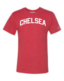 Red Chelsea T-shirt with White Reflective Letters