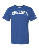 Blue Chelsea T-shirt with White Reflective Letters