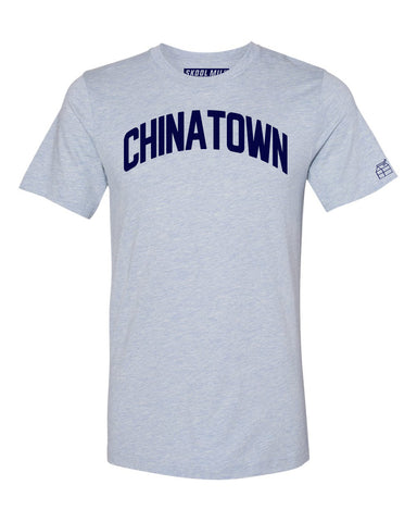 Sky Blue Chinatown T-shirt with Blue Letters