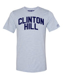 Sky Blue Clinton Hill T-shirt with Blue Letters