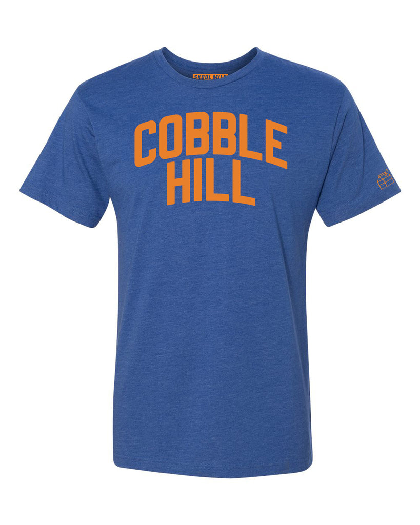 Blue Cobble Hill T-shirt with Knicks Orange Letters