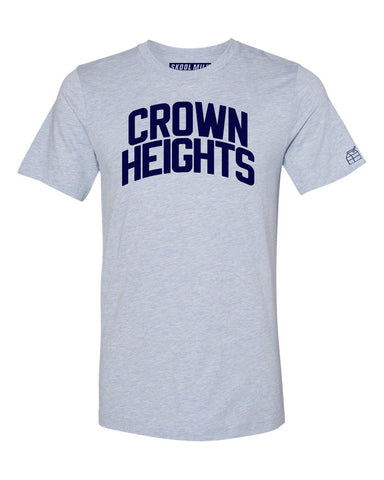 Sky Blue Crown Heights T-shirt with Blue Letters