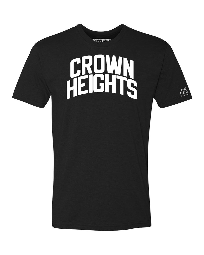 Black Crown Heights T-shirt with White Reflective Letters