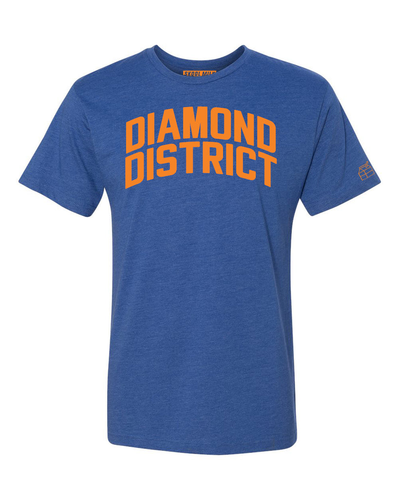 Blue Diamond District  T-shirt with Knicks Orange Letters