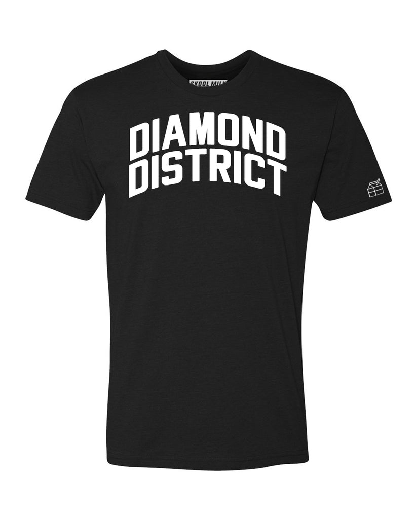 Black Diamond District  T-shirt with White Reflective Letters