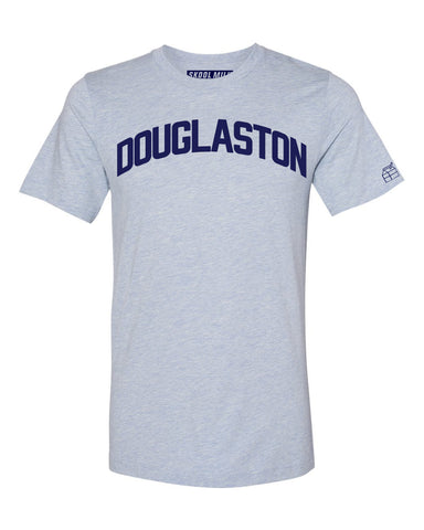 Sky Blue Douglaston T-shirt with Blue Letters
