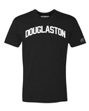 Black Douglaston T-shirt with White Reflective Letters