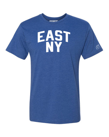 Blue East NY T-shirt with White Reflective Letters