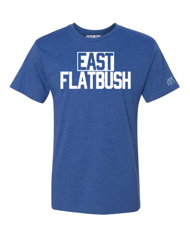 Blue Heather Neighborhood T-Shirt with White Reflective Letters #BlueberryAndCream