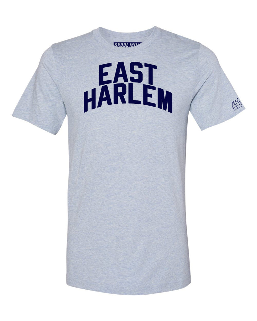 Sky Blue East Harlem T-shirt with Blue Letters