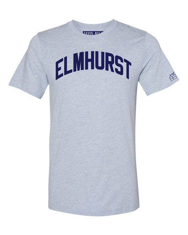 Sky Blue Elmhurst T-shirt with Blue Letters