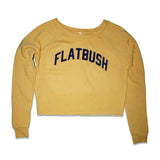 Flatbush Crop Top Sweatshirt - Yellow/Blue