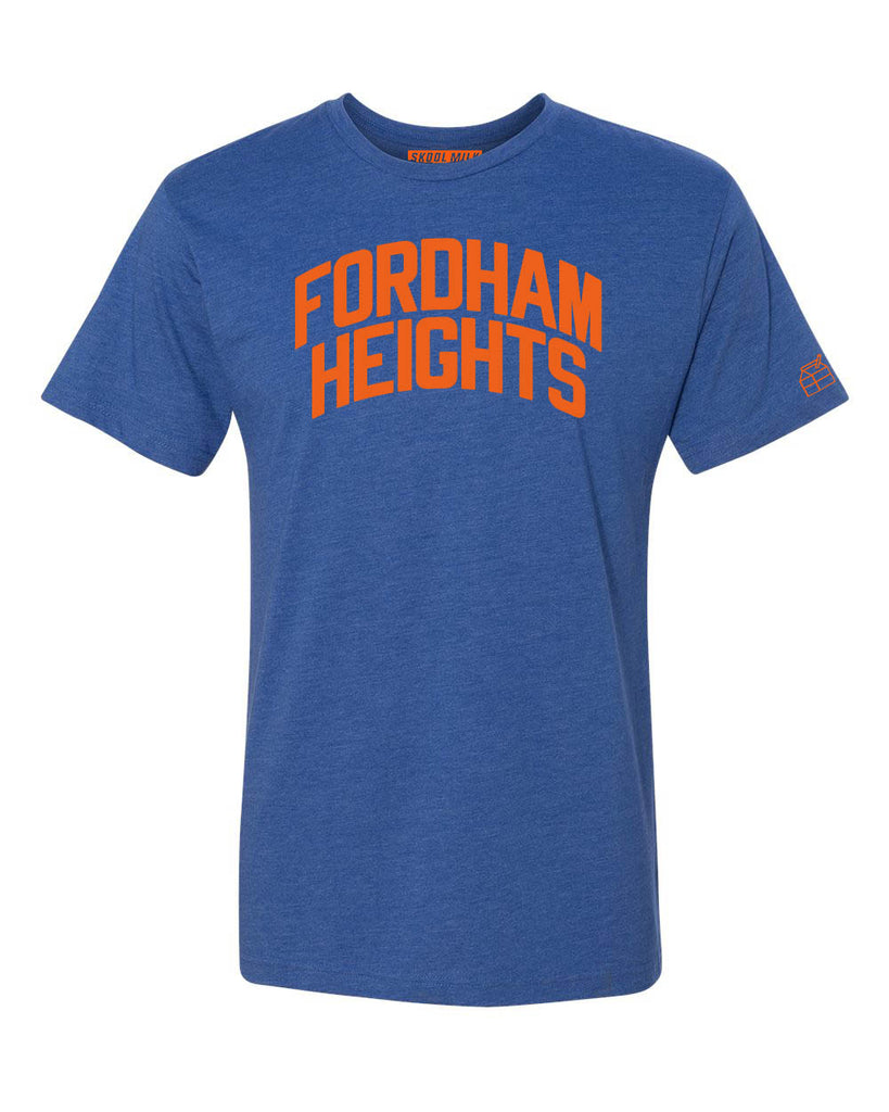 Blue Fordham Heights T-shirt with Knicks Orange Letters