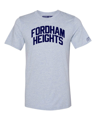 Sky Blue Fordham Heights Bronx T-Shirt with Blue Letters