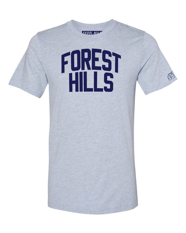 Sky Blue Forest Hills T-shirt with Blue Letters