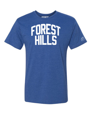 Blue Forest Hills T-shirt with White Reflective Letters