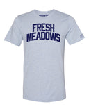 Sky Blue Fresh Meadows T-shirt with Blue Letters