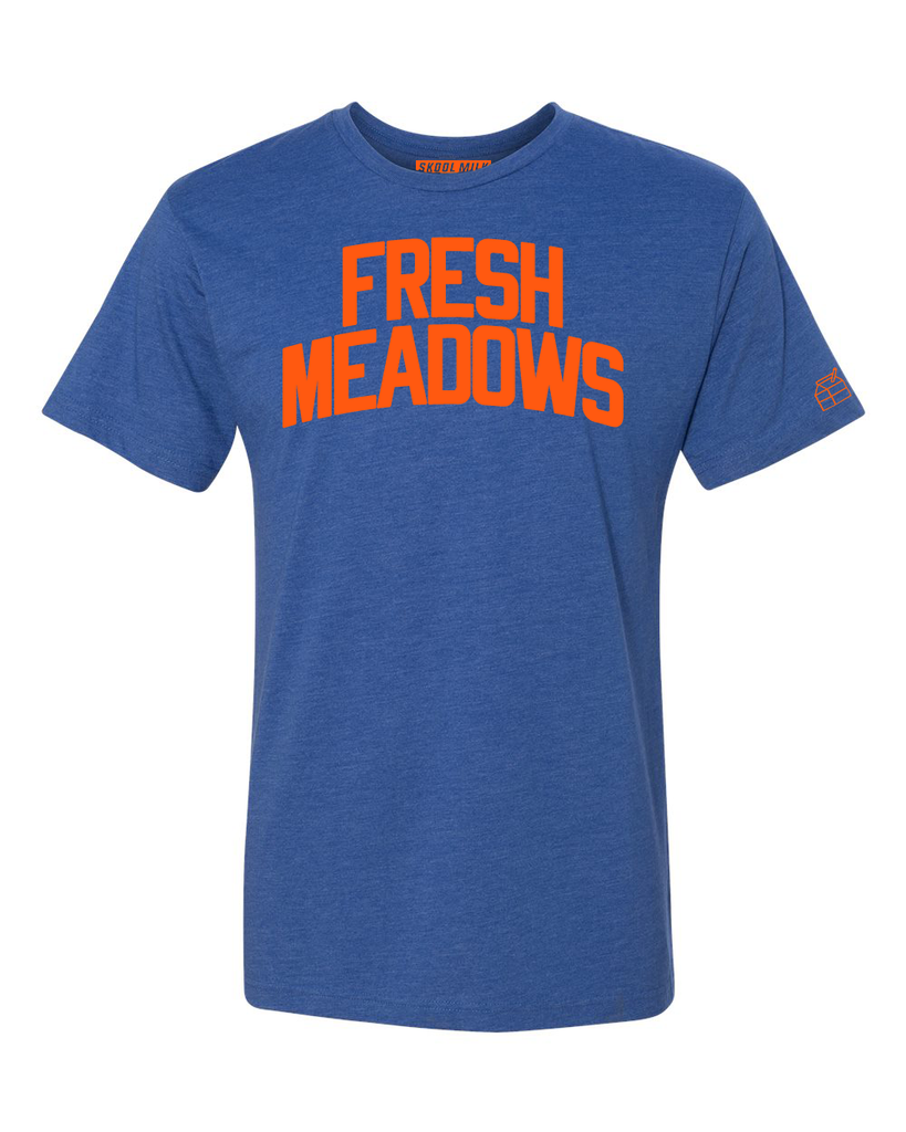 Blue Fresh Meadows T-shirt with Knicks Orange Letters