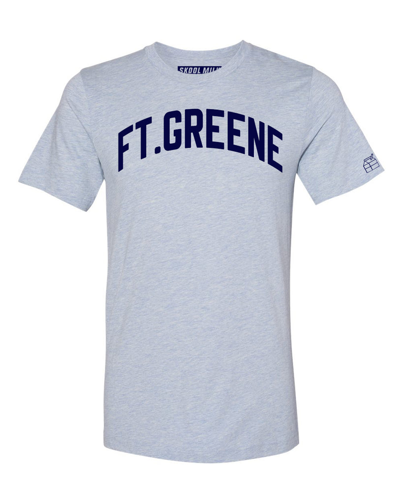 Sky Blue Ft.Greene T-shirt with Blue Letters
