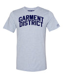 Sky Blue Garment District  T-shirt with Blue Letters