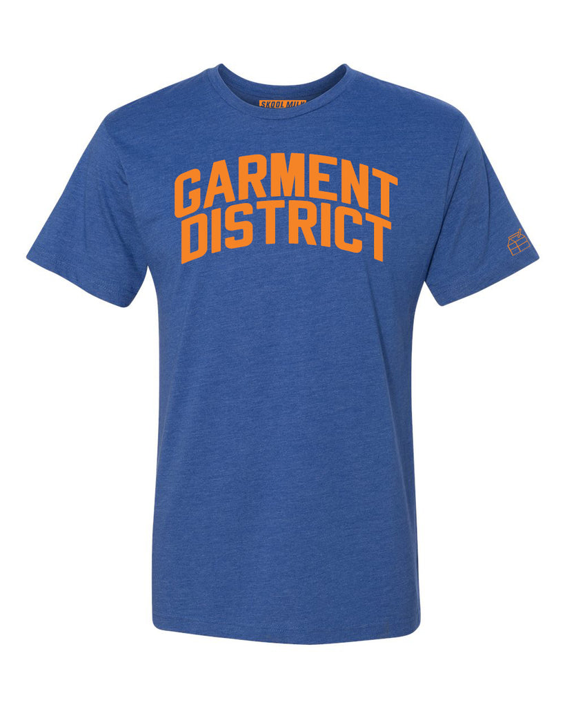 Blue Garment District T-shirt with Knicks Orange Letters