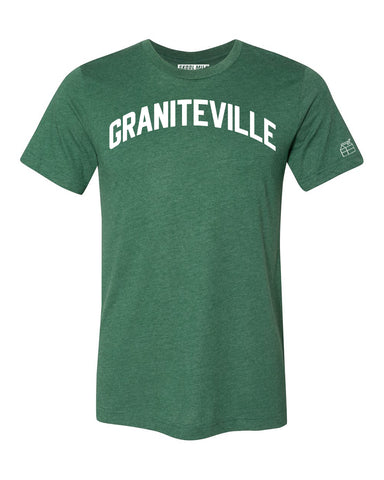 Green Graniteville T-shirt with White Reflective Letters