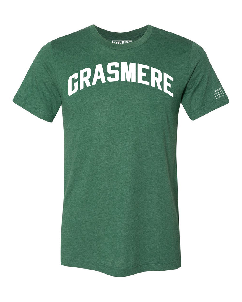 Green Grasmere T-shirt with White Reflective Letters