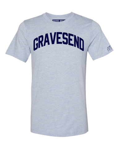 Sky Blue Gravesend T-shirt with Blue Letters