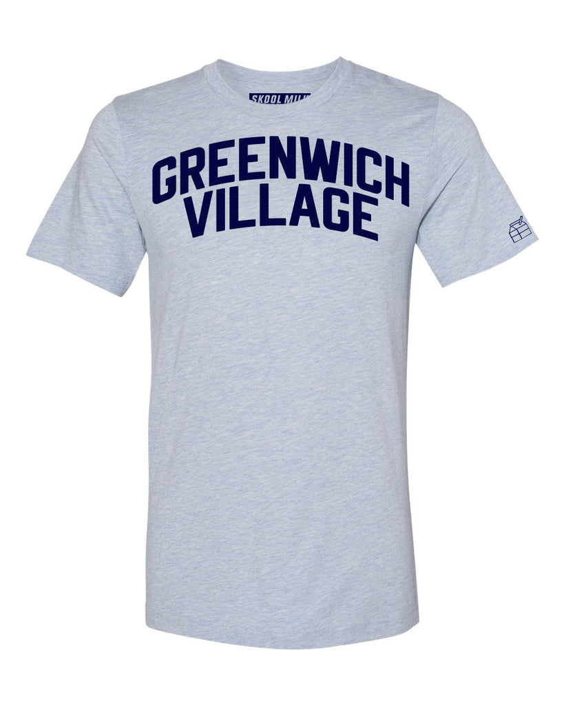 Sky Blue Greenwich Village T-shirt with Blue Letters