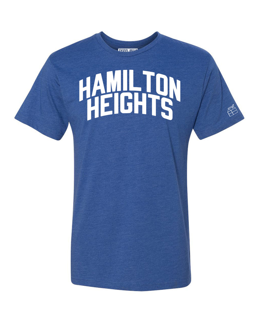 Blue Hamilton Heights T-shirt with White Reflective Letters
