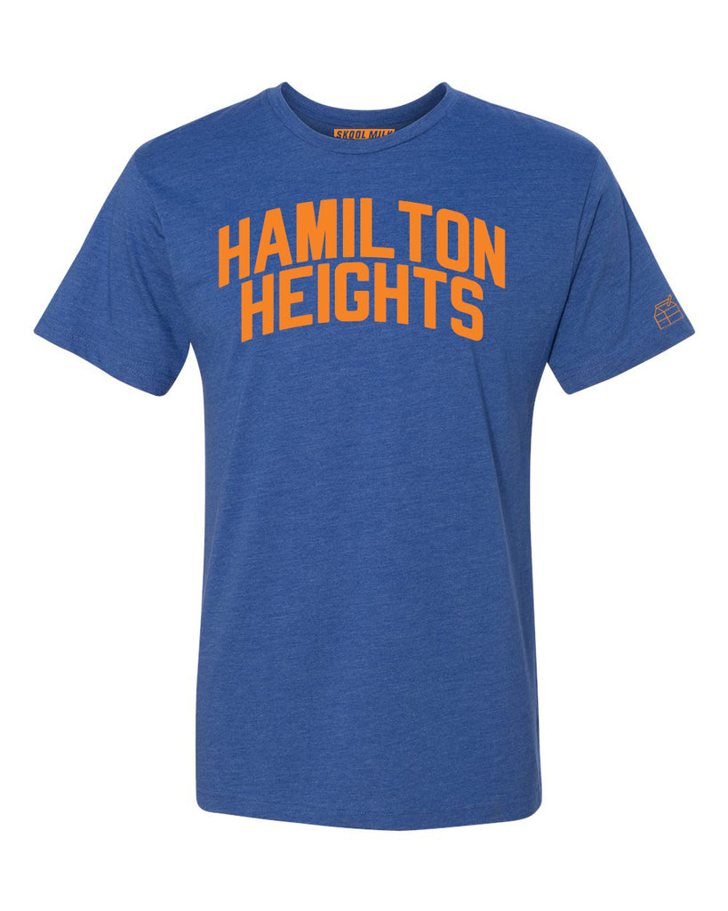 Blue Hamilton Heights T-shirt with Knicks Orange Letters