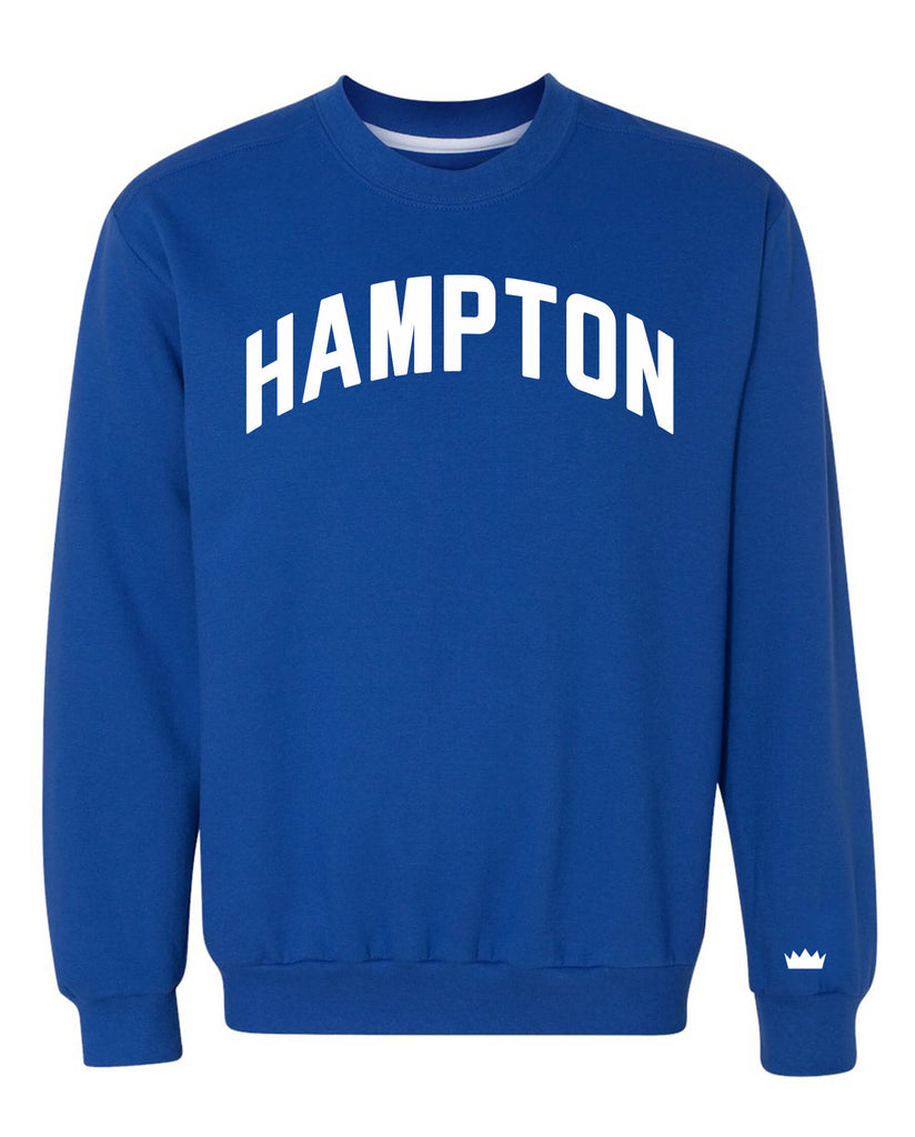 Hampton Blue Sweatshirt with White Reflective Lettering