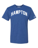 Blue Hampton T-Shirt w/ White Reflective Letters. The Real HU!