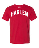 Red Harlem T-shirt with White Reflective Letters