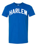 Blue Harlem T-shirt with White Reflective Letters