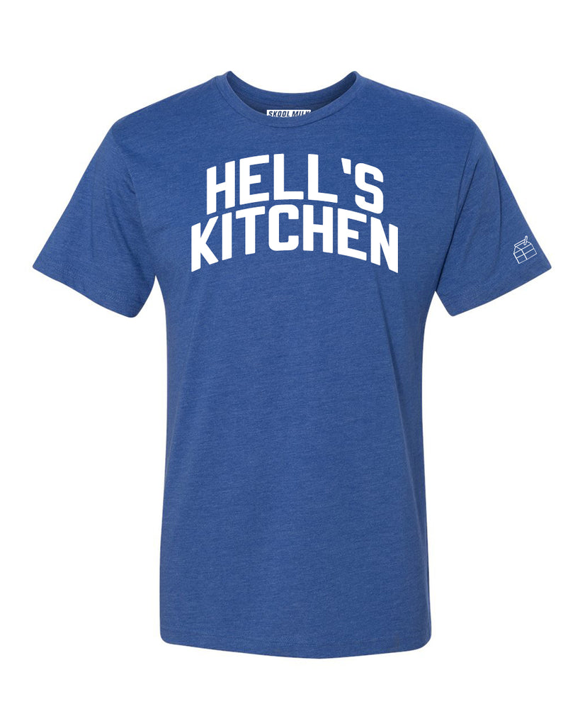 Blue Hell's Kitchen T-shirt with White Reflective Letters
