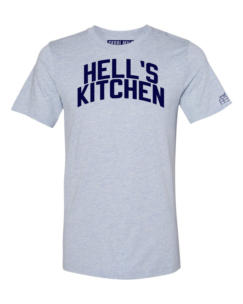 Sky Blue Hell's Kitchen T-shirt with Blue Letters