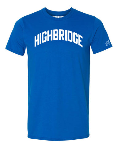 Blue Highbridge Heights T-shirt with White Reflective Letters
