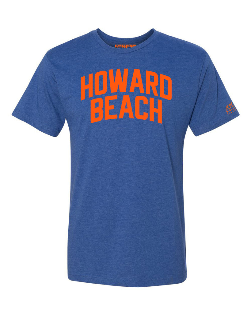 Blue Howard Beach T-shirt with Knicks Orange Letters