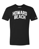 Black Howard Beach T-shirt with White Reflective Letters