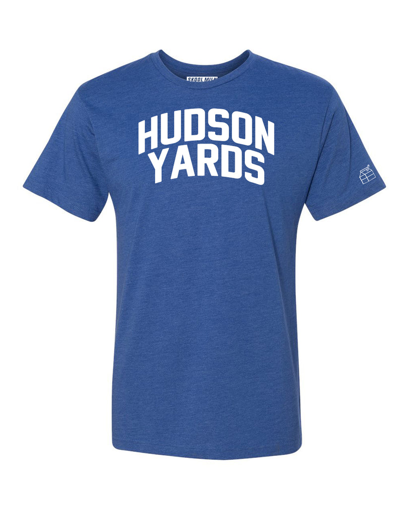 Blue Hudson Yards  T-shirt with White Reflective Letters