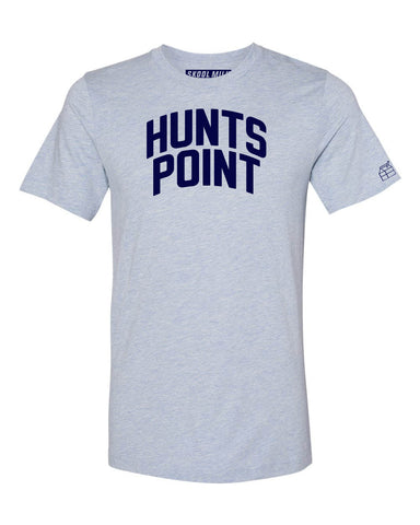 Sky Blue Hunts Point Bronx T-Shirt with Blue Letters