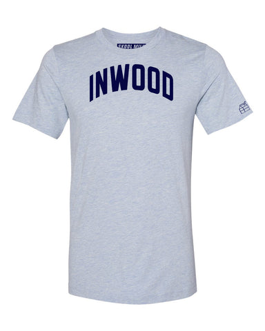 Sky Blue Inwood T-shirt with Blue Letters