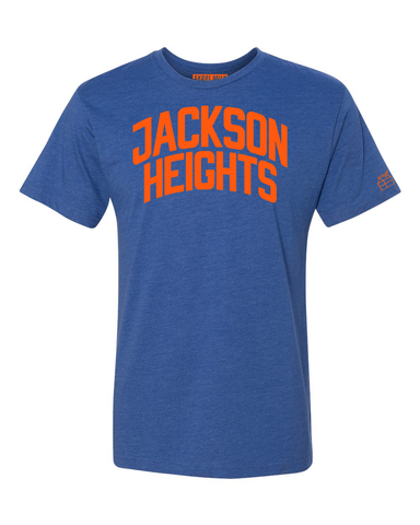 Blue Jackson Heights T-shirt with Knicks Orange Letters