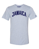 Sky Blue Jamaica T-shirt with Blue Letters